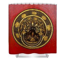 Tibetan Door Knocker Shower Curtain