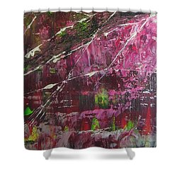 Shower Curtain featuring the painting Tickled Pink by Lucy Matta