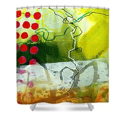 Tidal 20 Shower Curtain by Jane Davies