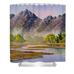 Tidal Flats Shower Curtain
