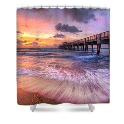 Tidal Lace Shower Curtain by Debra and Dave Vanderlaan