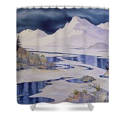 Tidal Patterns Iv Shower Curtain