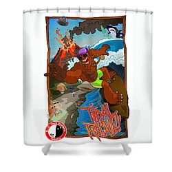 Tidal Recall  Shower Curtain