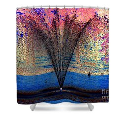 Tidal Wave Of Color Shower Curtain