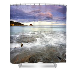 Tide Covered Pavement Shower Curtain by Mike  Dawson