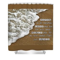 Tide Of Encouragement Shower Curtain by Carolyn Marshall