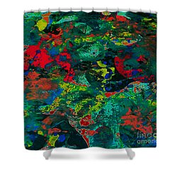 Shower Curtain featuring the painting Tide Pool by Jacqueline McReynolds