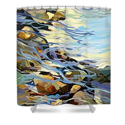 Shower Curtain featuring the painting Tidepool 3 by Rae Andrews