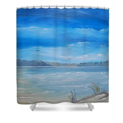 Tides In Shower Curtain
