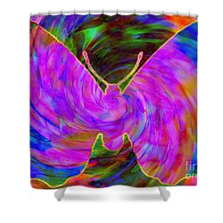 Tie-dye Butterfly Shower Curtain by Elizabeth McTaggart