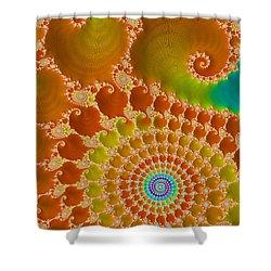 Tie Dye  Shower Curtain by Heidi Smith
