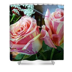 Tie Dye Roses Shower Curtain