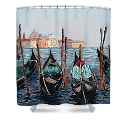 Tied Up In Venice Shower Curtain