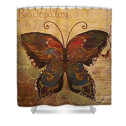 Tiffany's Butterfly Shower Curtain