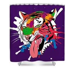 Tiger 11 Shower Curtain by Mark Ashkenazi