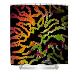 Tiger Action Shower Curtain by Christine Fournier