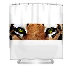 Tiger Art - Hungry Eyes Shower Curtain