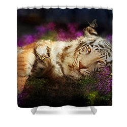 Tiger Dreams Shower Curtain by Aimee Stewart