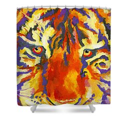 Tiger Eyes Shower Curtain by Stephen Anderson