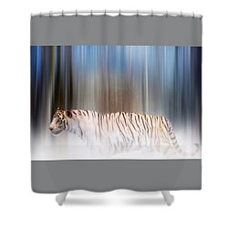 Shower Curtain featuring the photograph Tiger In The Mist by Valerie Anne Kelly
