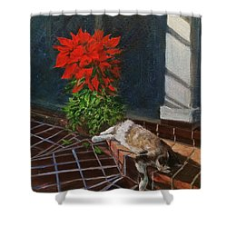 Tiger Lily In Repose Shower Curtain