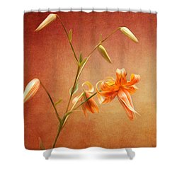 Tiger Lily Shower Curtain by Lena Auxier