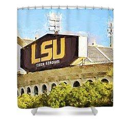Tiger Stadium - Bw Shower Curtain