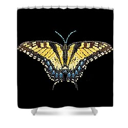 Tiger Swallowtail Butterfly Bedazzled Shower Curtain