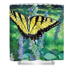Tiger Swallowtail- Enjoying The Sweetness Shower Curtain