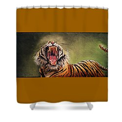Tiger Yawn Shower Curtain