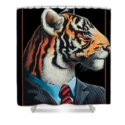 Tigerman Shower Curtain by Scott Ross