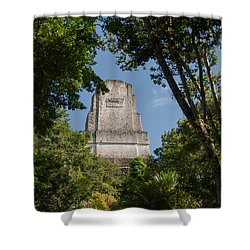 Tikal Pyramid 4b Shower Curtain