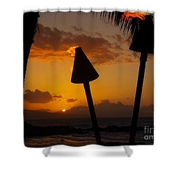 Tiki Time In Maui Shower Curtain