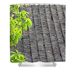 Tiled Roof Shower Curtain