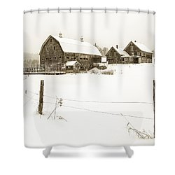Till Dawn Farm Shower Curtain by John Vose