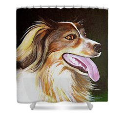 Shower Curtain featuring the painting Tillie by Janice Dunbar