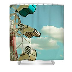 Tilt And Twirl Shower Curtain by Colleen Kammerer