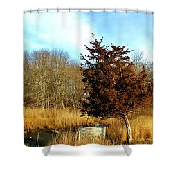 Tilted Tree  Shower Curtain