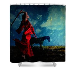 Tilting At Windmills Shower Curtain