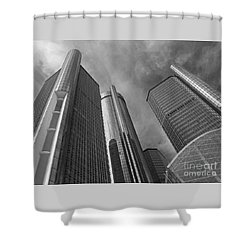 Tilting Towers Shower Curtain