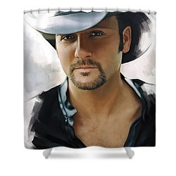 Tim Mcgraw Artwork Shower Curtain