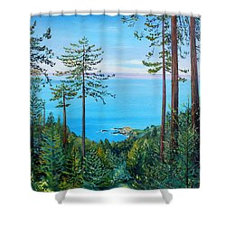 Timber Cove On A Still Summer Day Shower Curtain