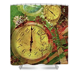 Time 6 Shower Curtain