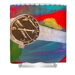 Time And Tide Waits For No One - Sierra Leone Shower Curtain by Mudiama Kammoh