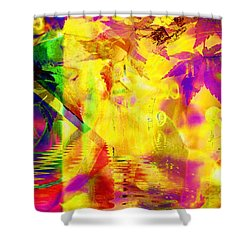 Time As An Abstract Shower Curtain by Elizabeth McTaggart