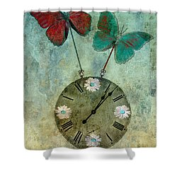 Time Flies Shower Curtain by Aimelle