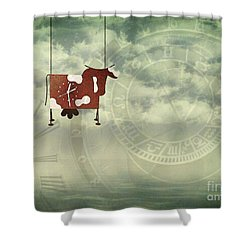 Time Flies Shower Curtain by Jutta Maria Pusl