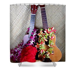Time For Hula Shower Curtain by Mary Deal