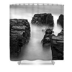 Time Shower Curtain by Gunnar Orn Arnason