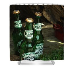 Shower Curtain featuring the photograph Time In Bottles by Rachel Mirror